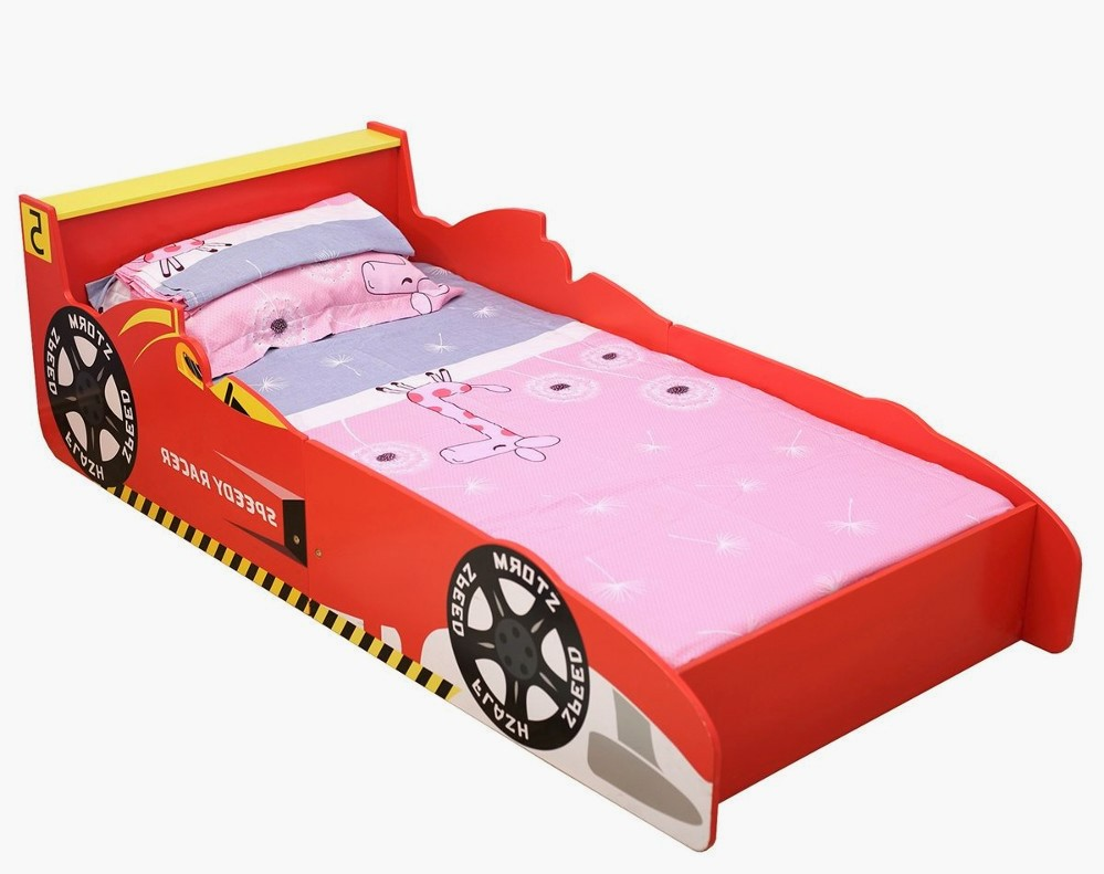 Babylo Racing Car Toddler Bed Red