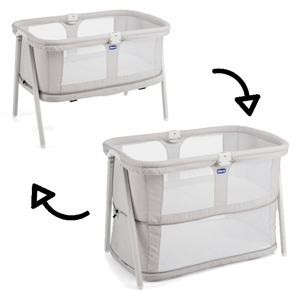 Chicco Lullago Zip Travel Crib Light Grey