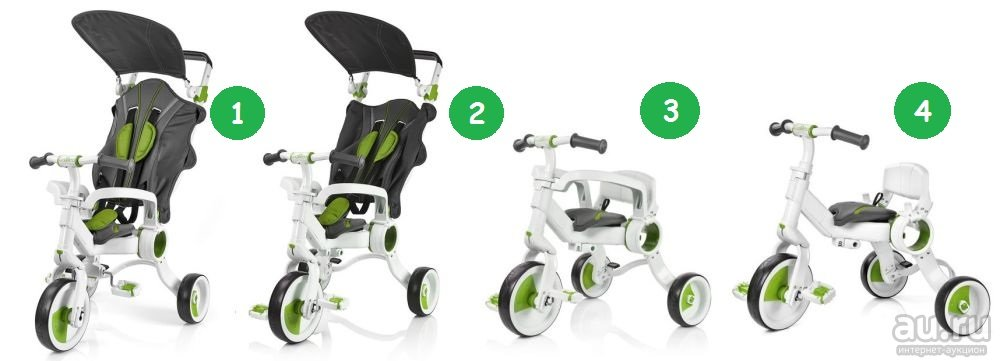 Babylo Strollcycle 4 in 1 Green 1 ONLY